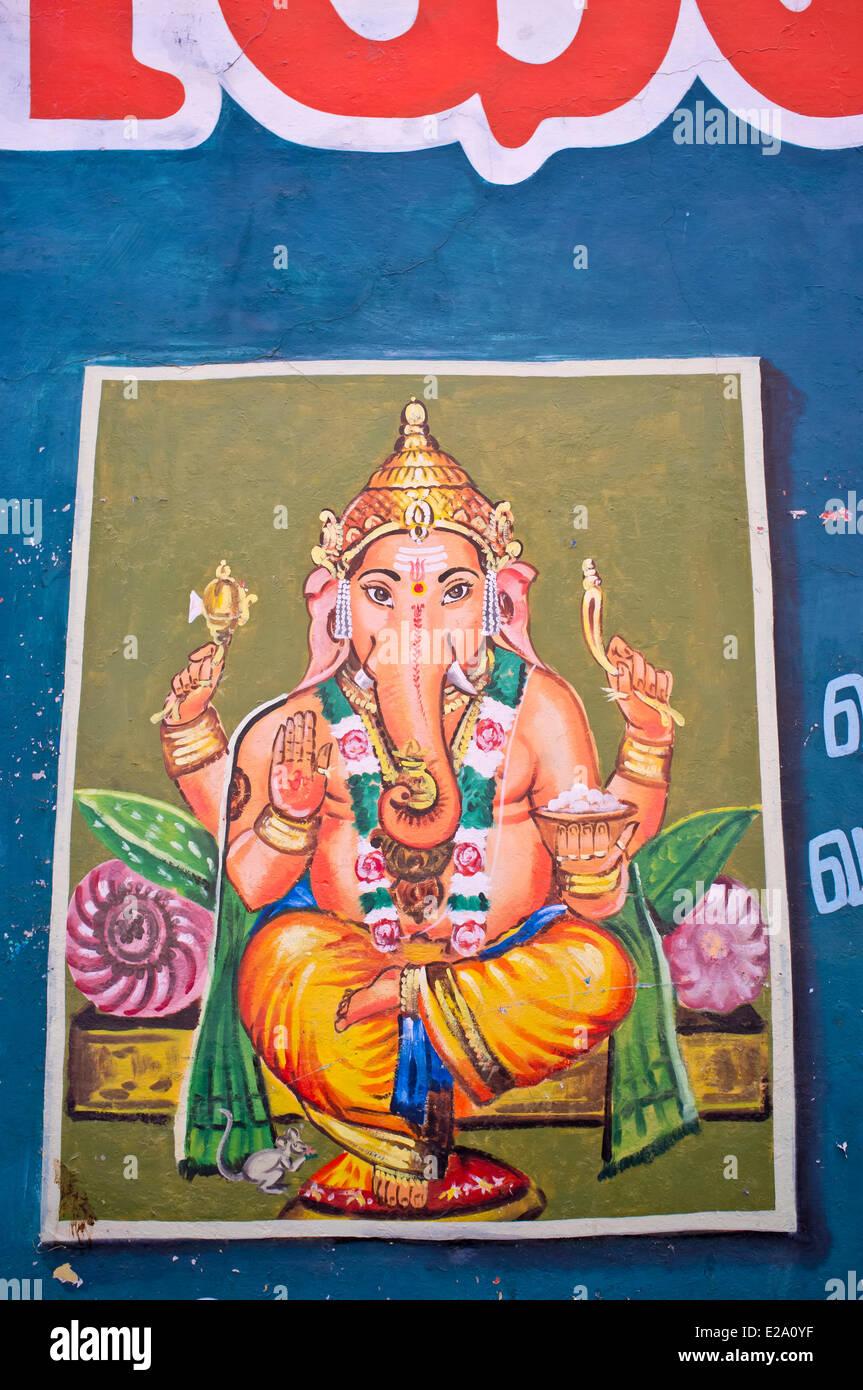 India, Tamil Nadu state, Tiruvannamalai, Ganesh, the god of good-luck - Stock Image