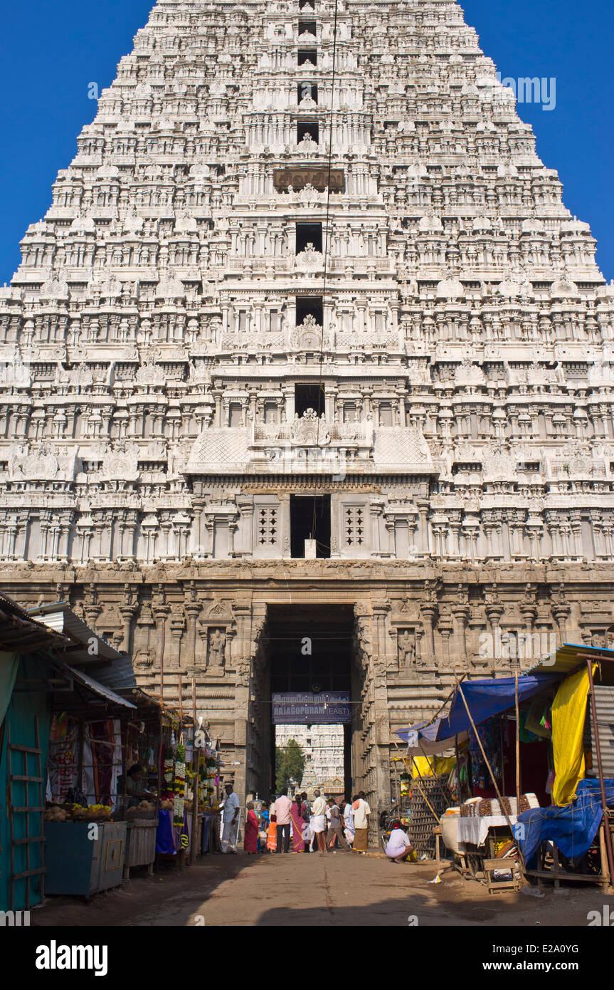 India, Tamil Nadu state, Tiruvannamalai, Arunachaleswarar temple where Shiva is worshiped in the form of fire, is - Stock Image