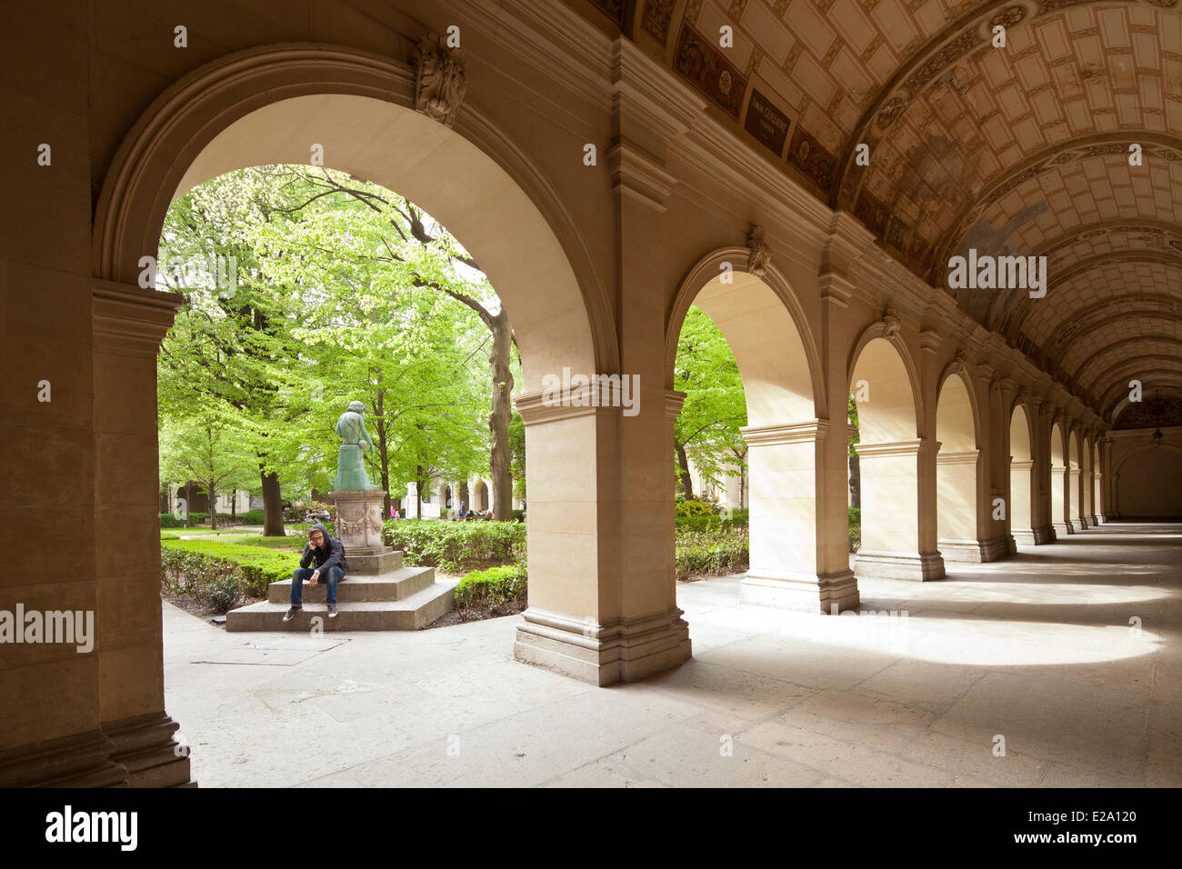 France, Rhone, Lyon, historical site listed as World Heritage by UNESCO, Palais Saint Pierre, Musee des Beaux Arts Stock Photo