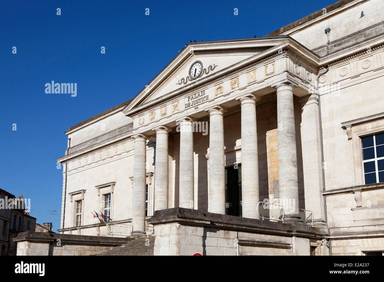 France, Charente, Angouleme, the Courthouse - Stock Image