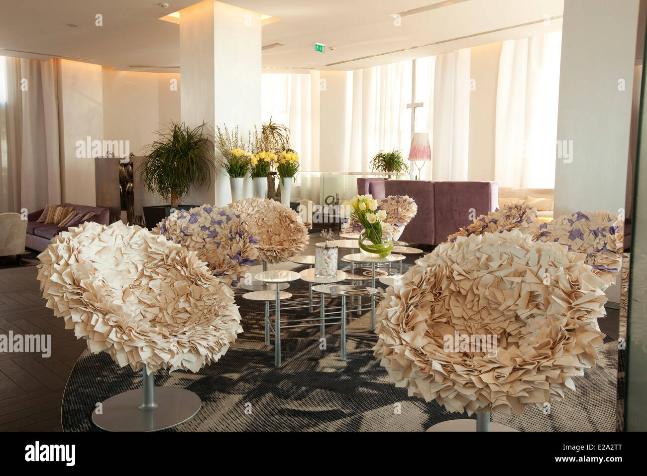 France, Alpes Maritimes, Cannes, Hotel Radisson Blu Stock Photo