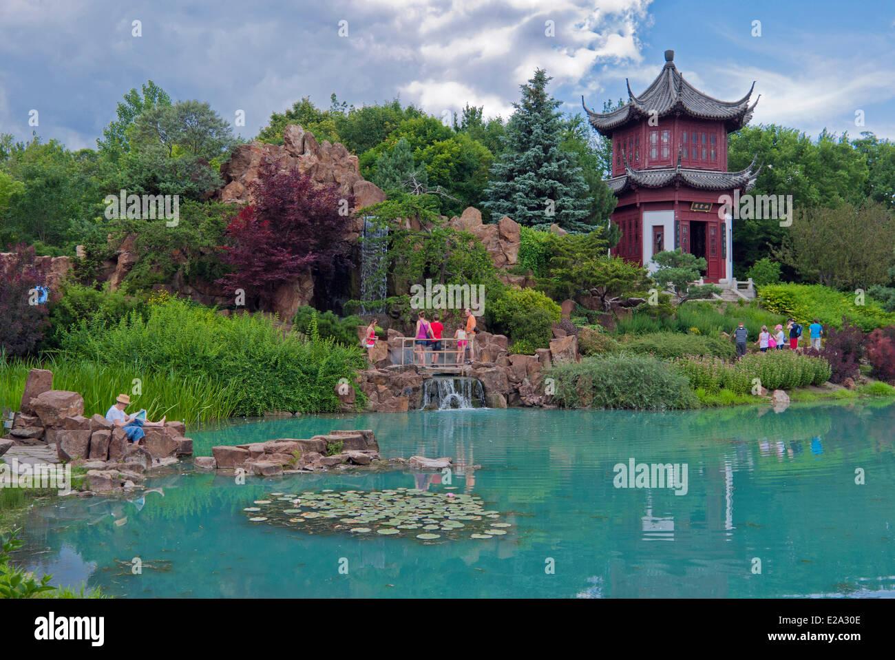Canada, Quebec Province, Montreal, Botanical Garden, Chinese Garden - Stock Image