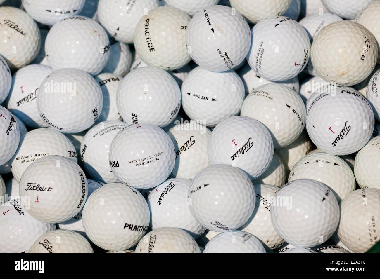 Canada, Quebec Province, golf balls - Stock Image