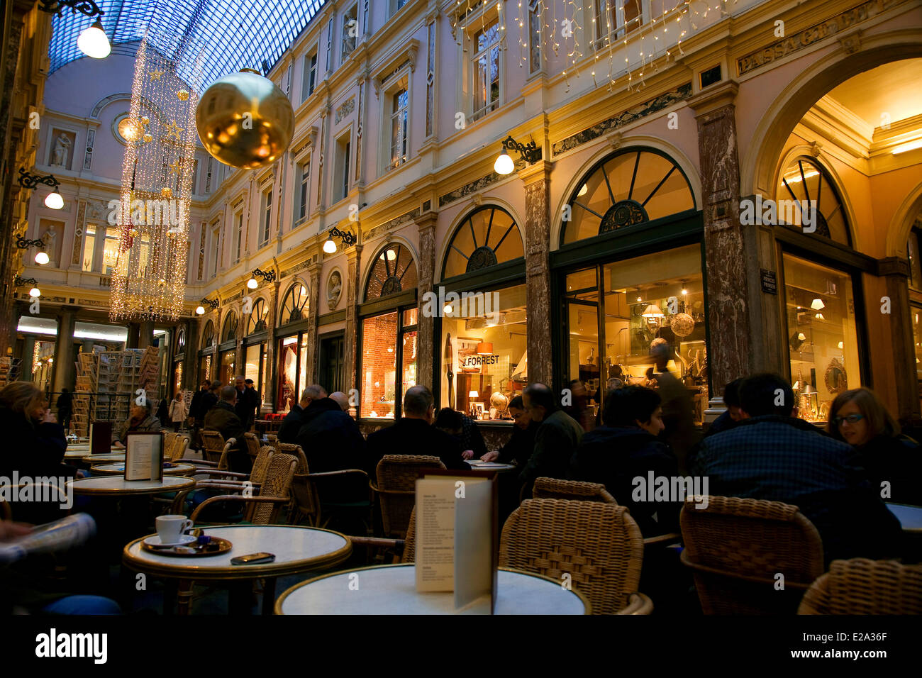 Belgium, Brussels, Royals galleries of St Hubert - Stock Image