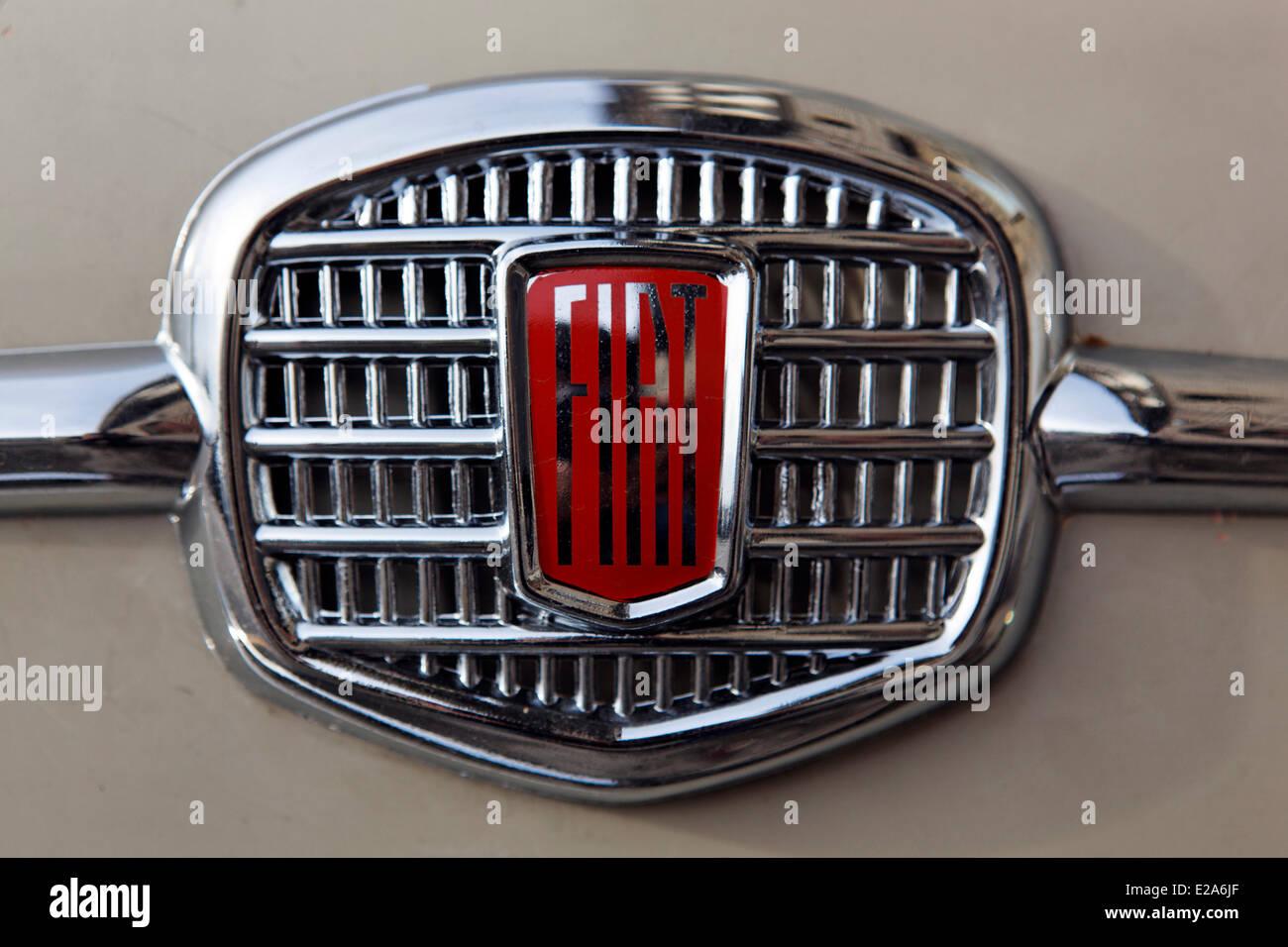 Italy, Tuscany, Florence, radiator grill of Fiat - Stock Image