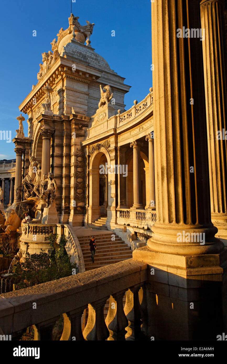 France, Bouches du Rhone, Marseille, european capital of culture 2013, the Palais Longchamp, district of Longchamp, Stock Photo