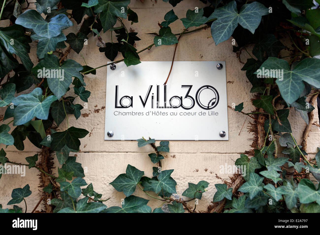 France, Nord, Lille, La Villa 30, a house with floors transformed into bed and breakfast right in the heart of Lille - Stock Image