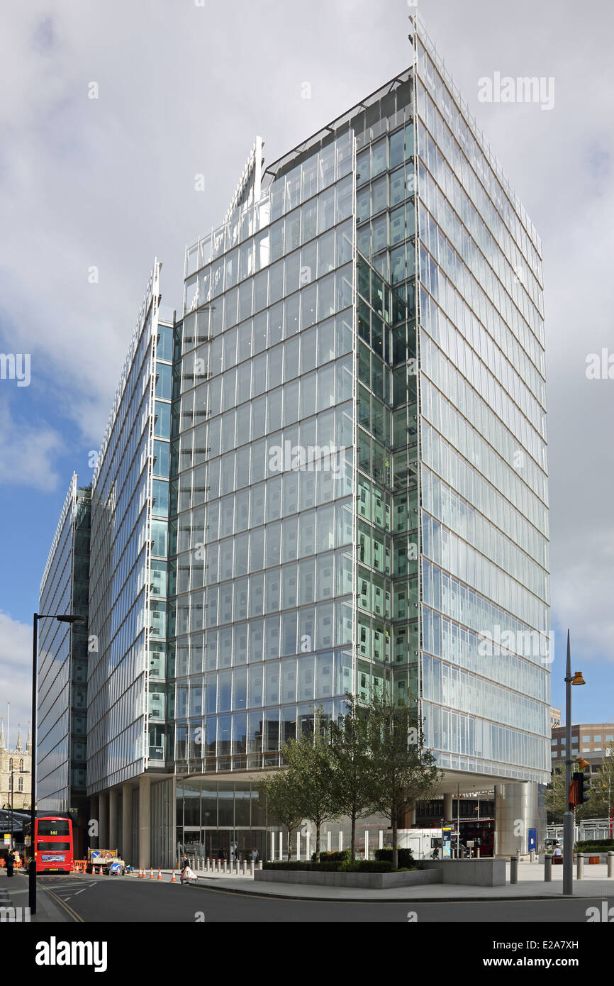 The Place, London Bridge, UK. A new office development sited next to London Bridge Station and the Shard - Stock Image