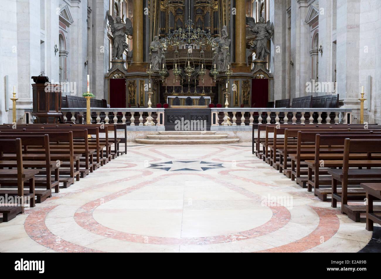 Portugal, Lisbon, the church of the monastery Sao Vicente de Fora Stock Photo