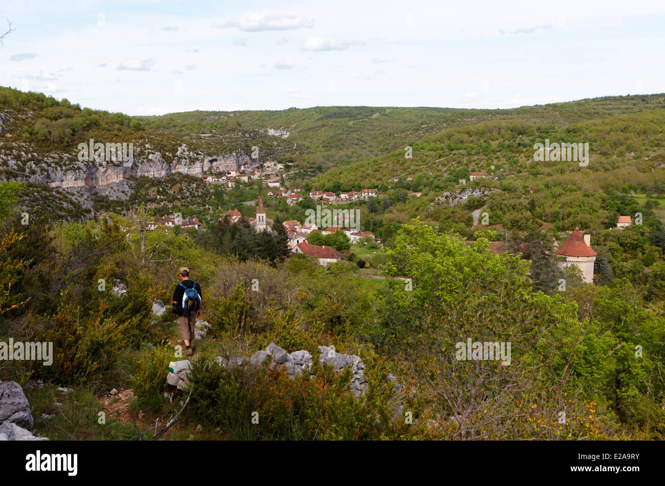 France, Lot, Quercy, Cele Valley, Cabrerets - Stock Image