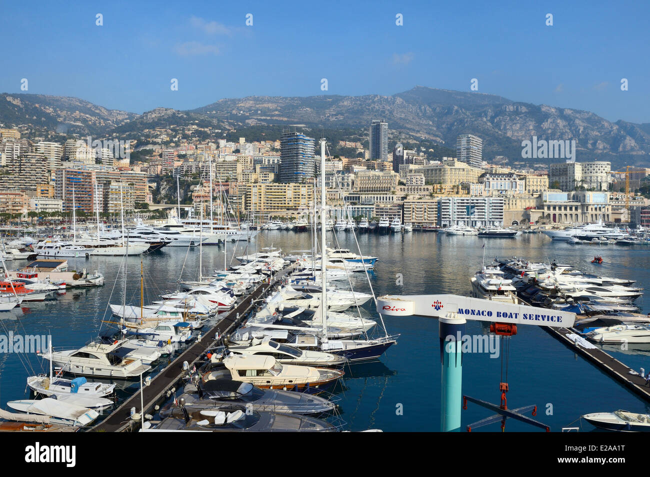 Principality of Monaco, Monaco, Port Hercule - Stock Image