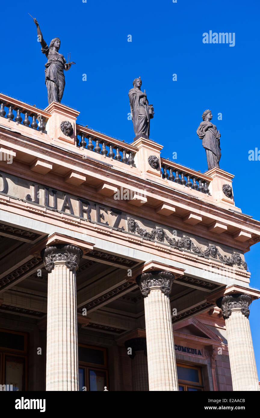 Mexico, Guanajuato state, Guanajuato, listed as World Heritage by UNESCO, the theatre Juarez downtown Stock Photo