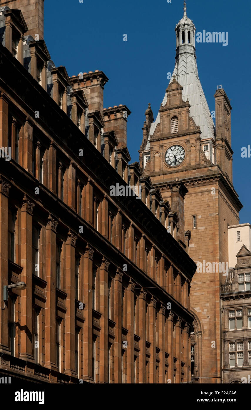 United Kingdom, Scotland, Glasgow, central district of Merchant City, Liverpool Street - Stock Image