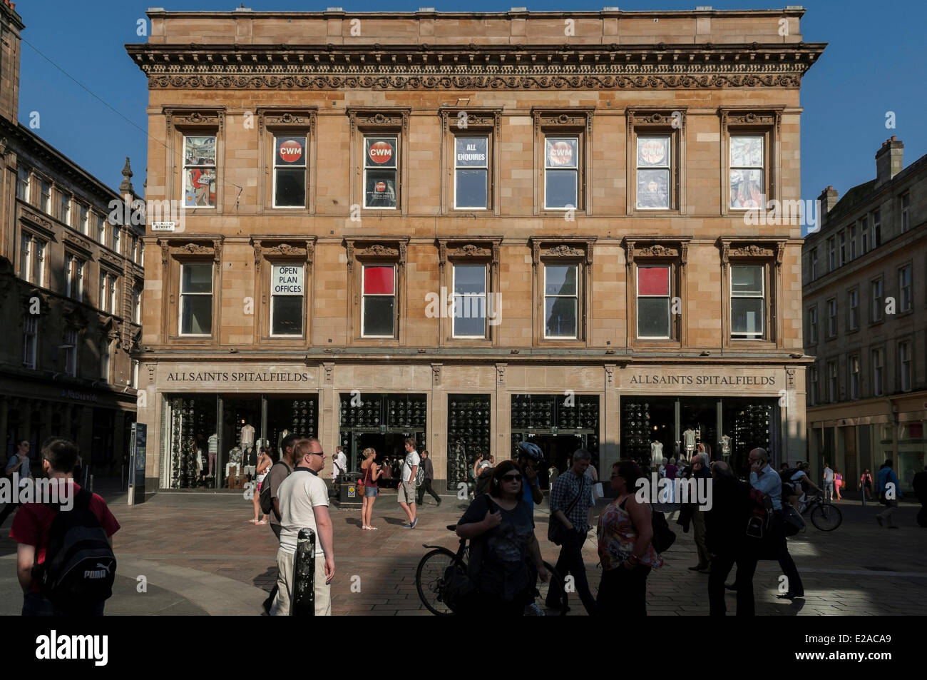 United Kingdom, Scotland, Glasgow, central district of Merchant City, around GOMA (Gallery of Modern Art) - Stock Image