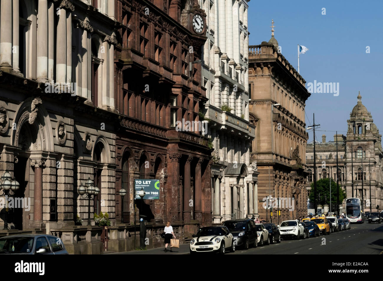 United Kingdom, Scotland, Glasgow, central district of Merchant City - Stock Image