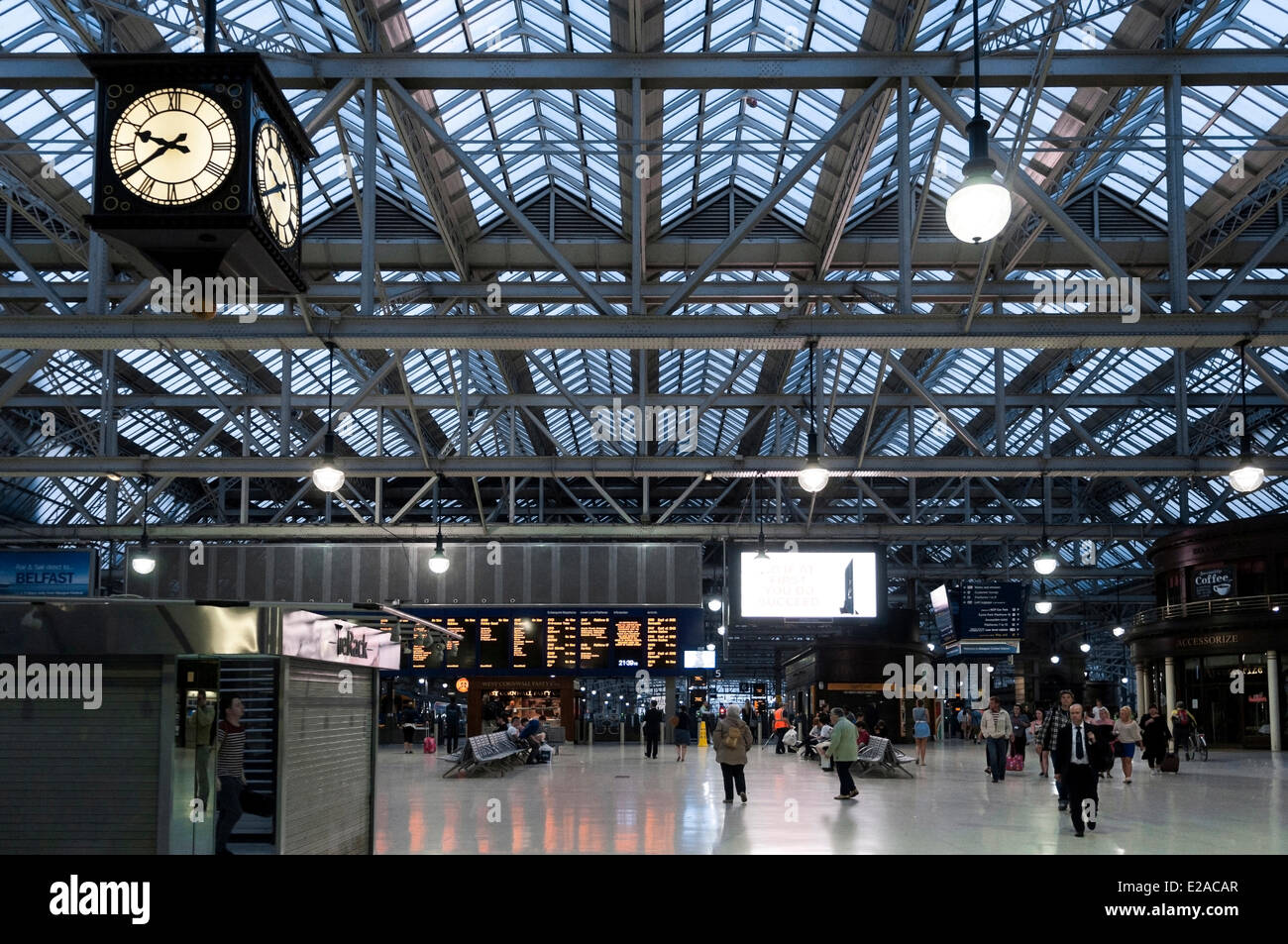 United Kingdom, Scotland, Glasgow, central district of Merchant City, Central Station - Stock Image
