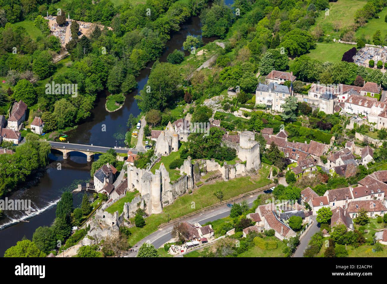 France, Vienne, Angles sur l'Anglin, labelled Les Plus Beaux Villages de France (The Most Beautiful Villages - Stock Image
