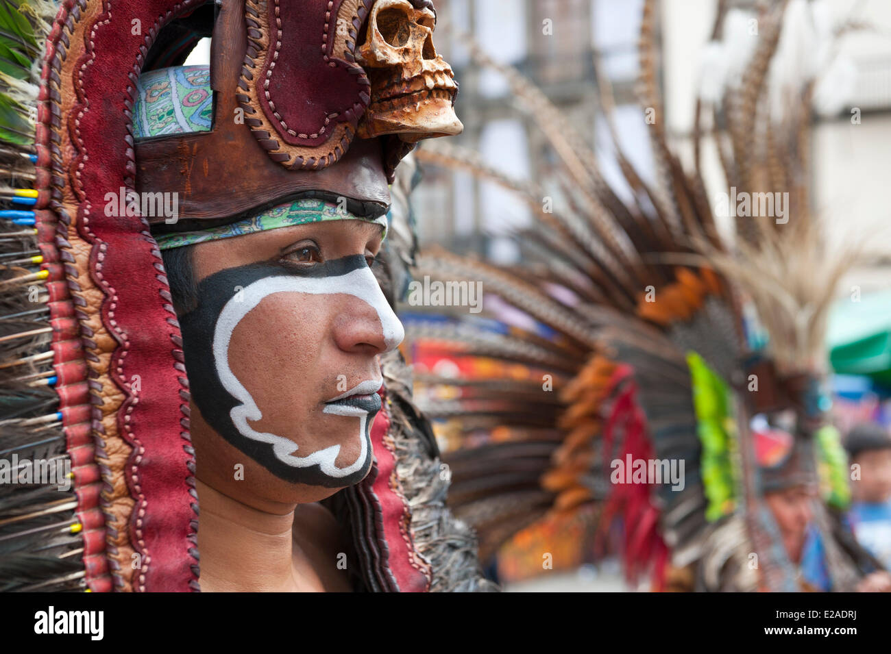 Mexico, Federal District, Mexico city, historical center listed as World Heritage by UNESCO, shamanistic ritual - Stock Image