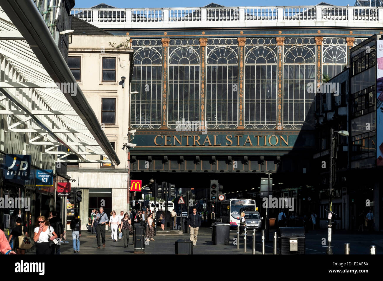 United Kingdom, Scotland, Glasgow, Central Station - Stock Image