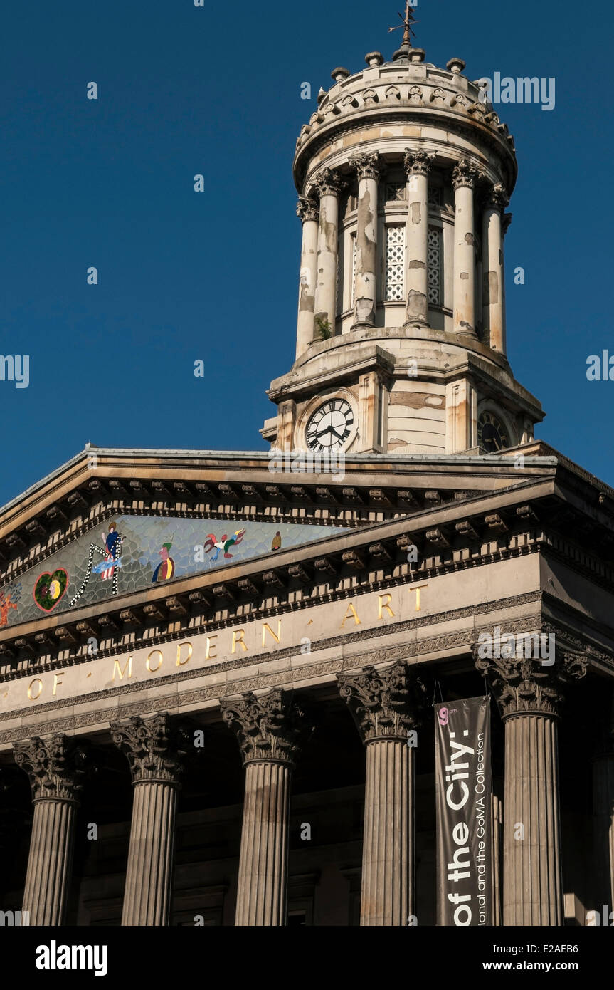 United Kingdom, Scotland, Glasgow, downtown, GOMA (Gallery of Modern Art) on Royal Exchange Square - Stock Image