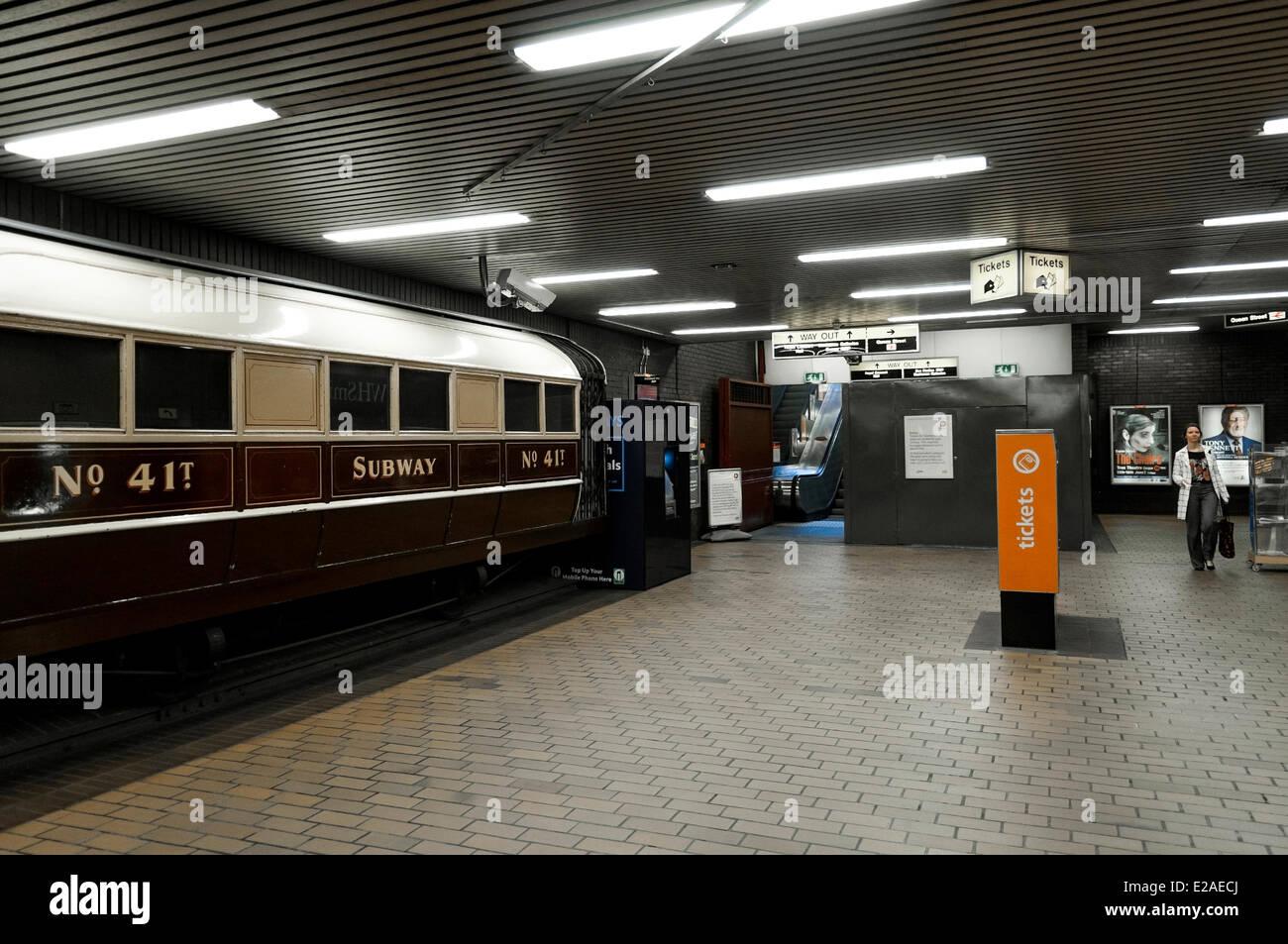 United Kingdom, Scotland, Glasgow, Buchanan Tube station - Stock Image