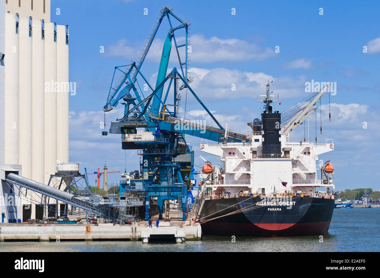 France, Morbihan, Lorient, the trading harbor - Stock Image