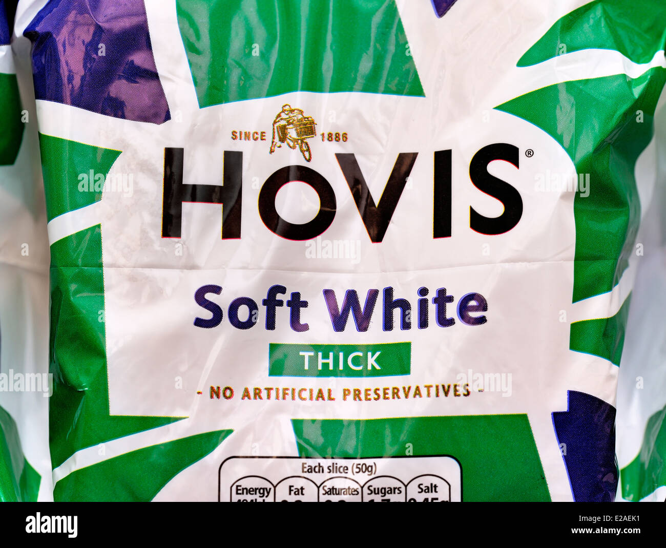 Hovis soft white thick loaf of bread - Stock Image