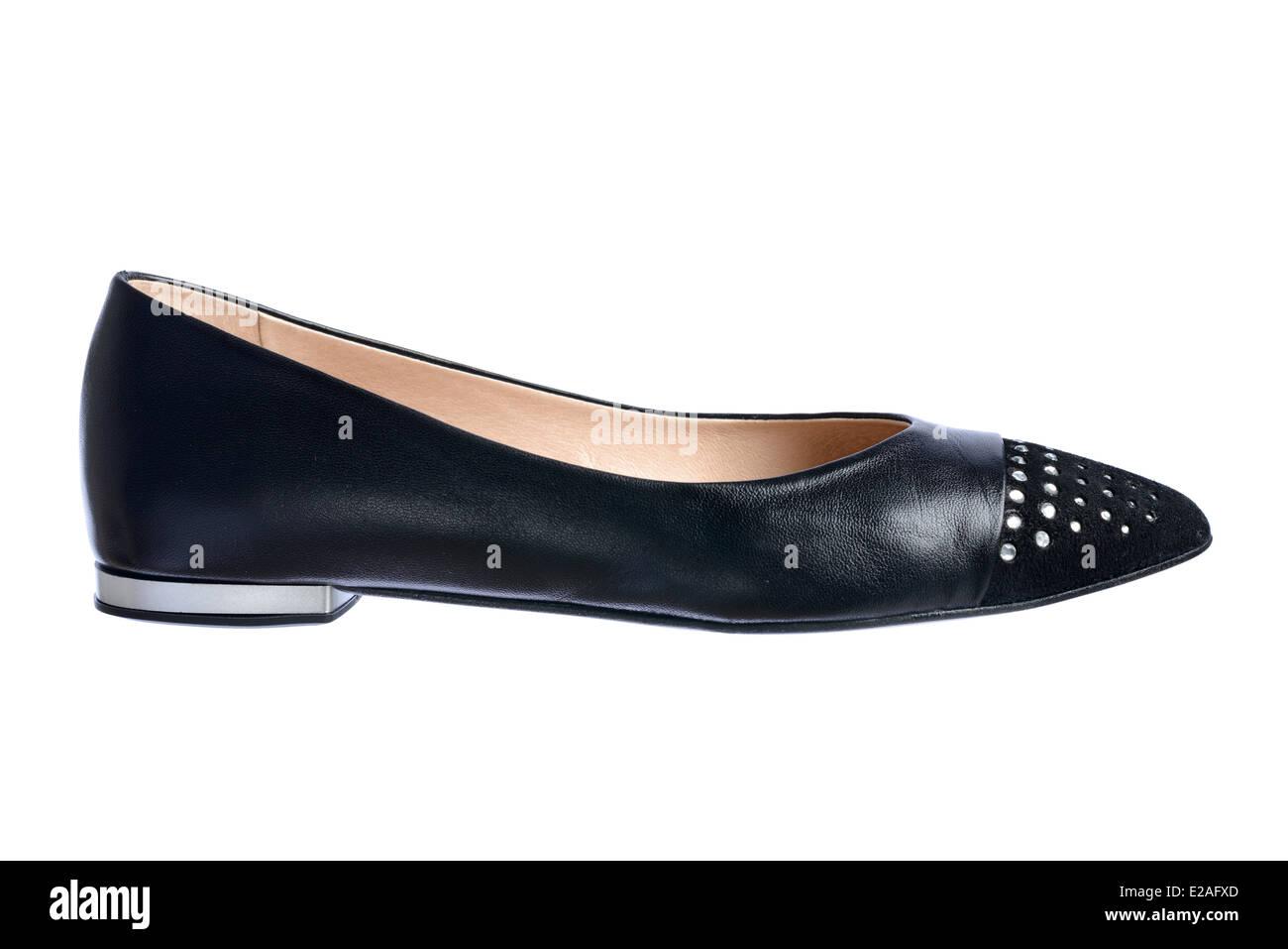 c5f02c91b Flat Black Shoes Women Stock Photos & Flat Black Shoes Women Stock ...