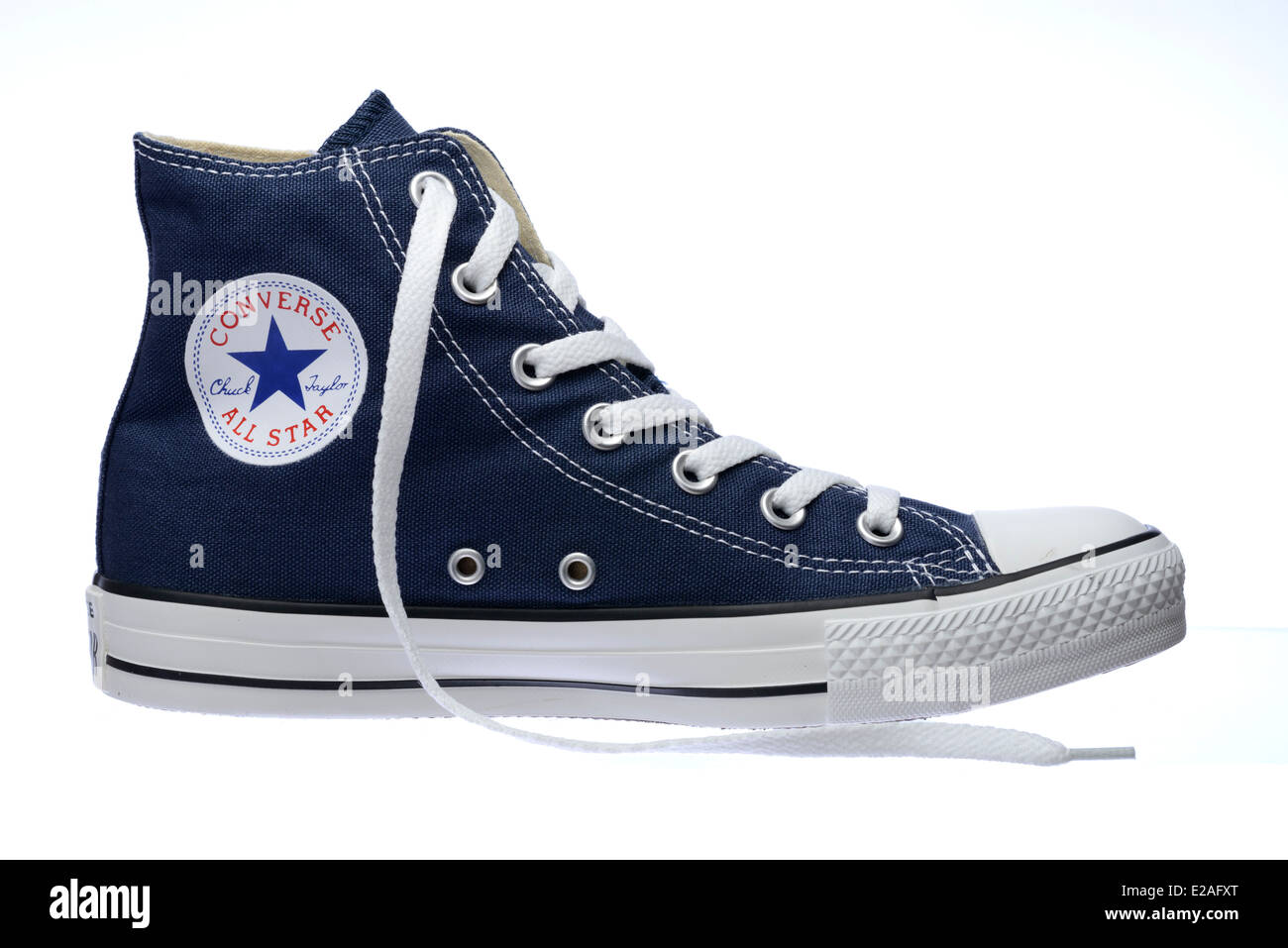 Side view of blue Converse Chuck Taylor All Star shoe Stock Photo ... 9695eed8d