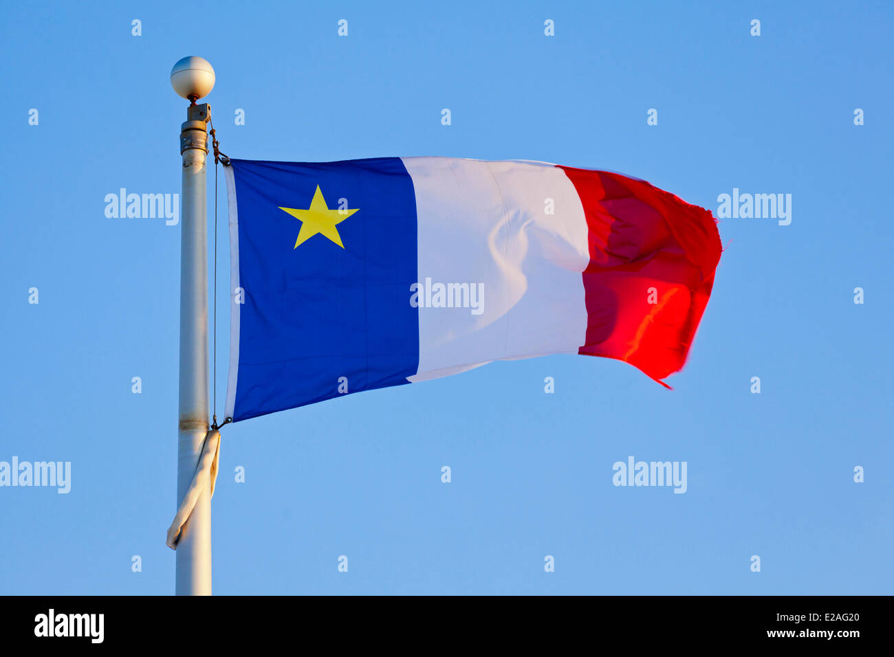 Canada, New Brunswick Province, the Acadian flag - Stock Image