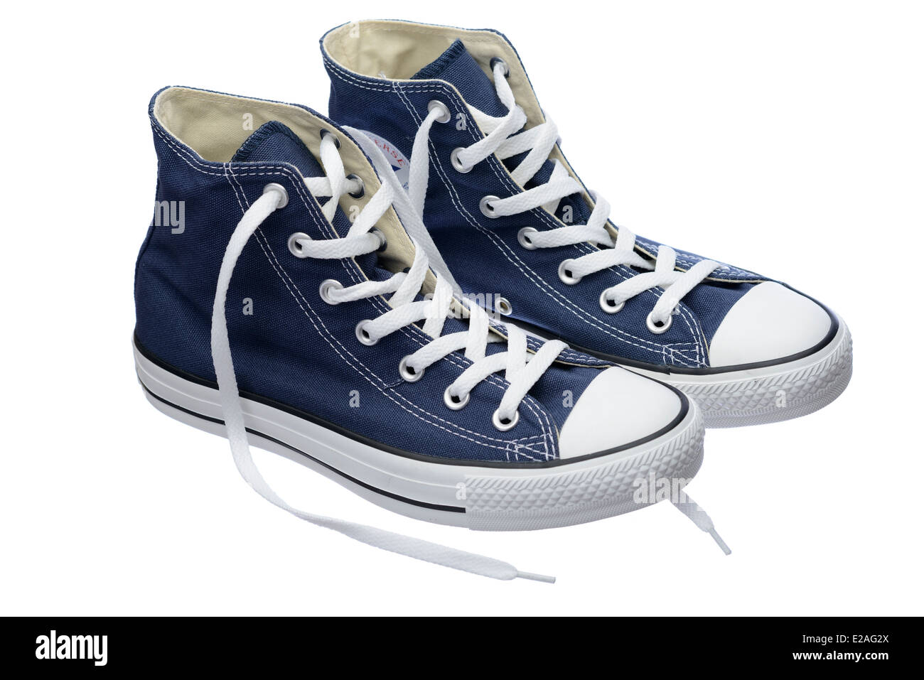 a3306129b5e Blue Converse Chuck Taylor All Star shoe pair Stock Photo  70302930 ...