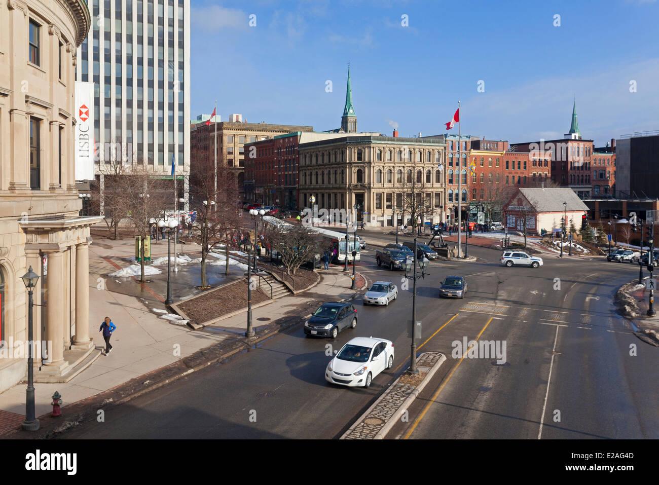 Canada, New Brunswick Province, Saint John, downtown, St. Patrick Street - Stock Image
