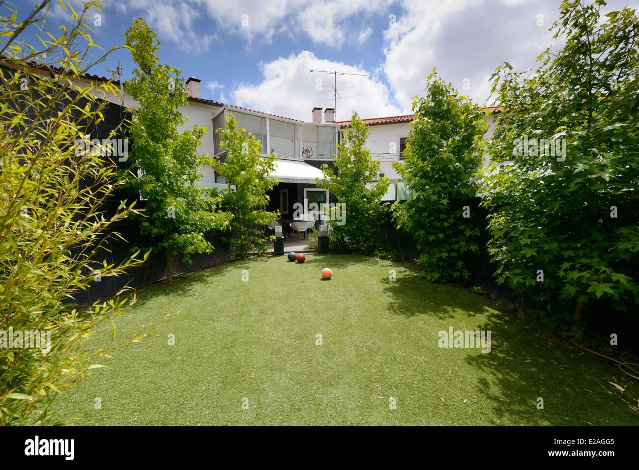 Backyard garden - Stock Image