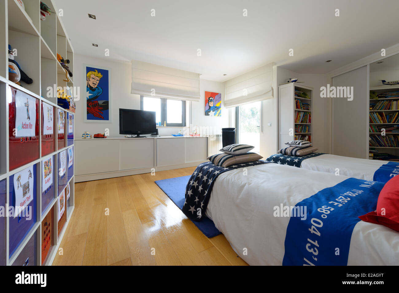 Twin Beds High Resolution Stock Photography And Images Alamy