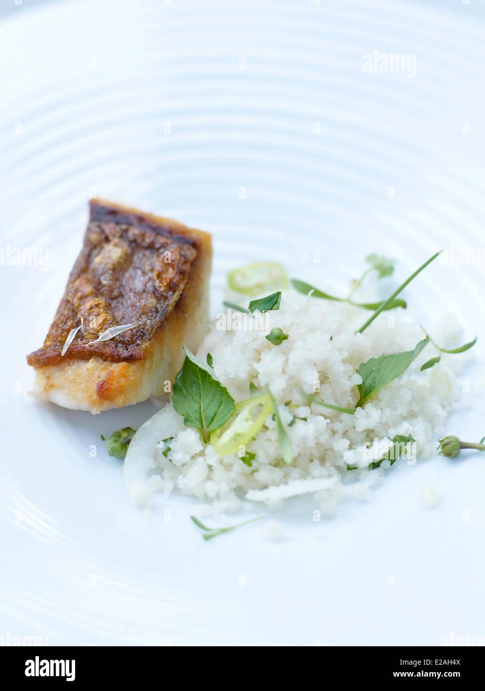 Brasil, Sao Paulo, feature : Chef Alex Atala, D.O.M. restaurant recipe Stock Photo