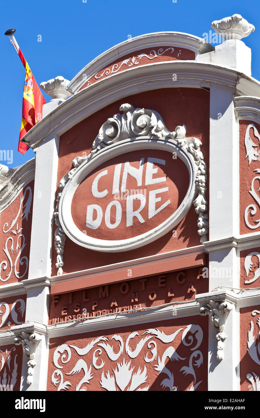 Spain, Madrid, Cine Dore dating from 1923 houses Spanish Film Library projection room since 1989 - Stock Image