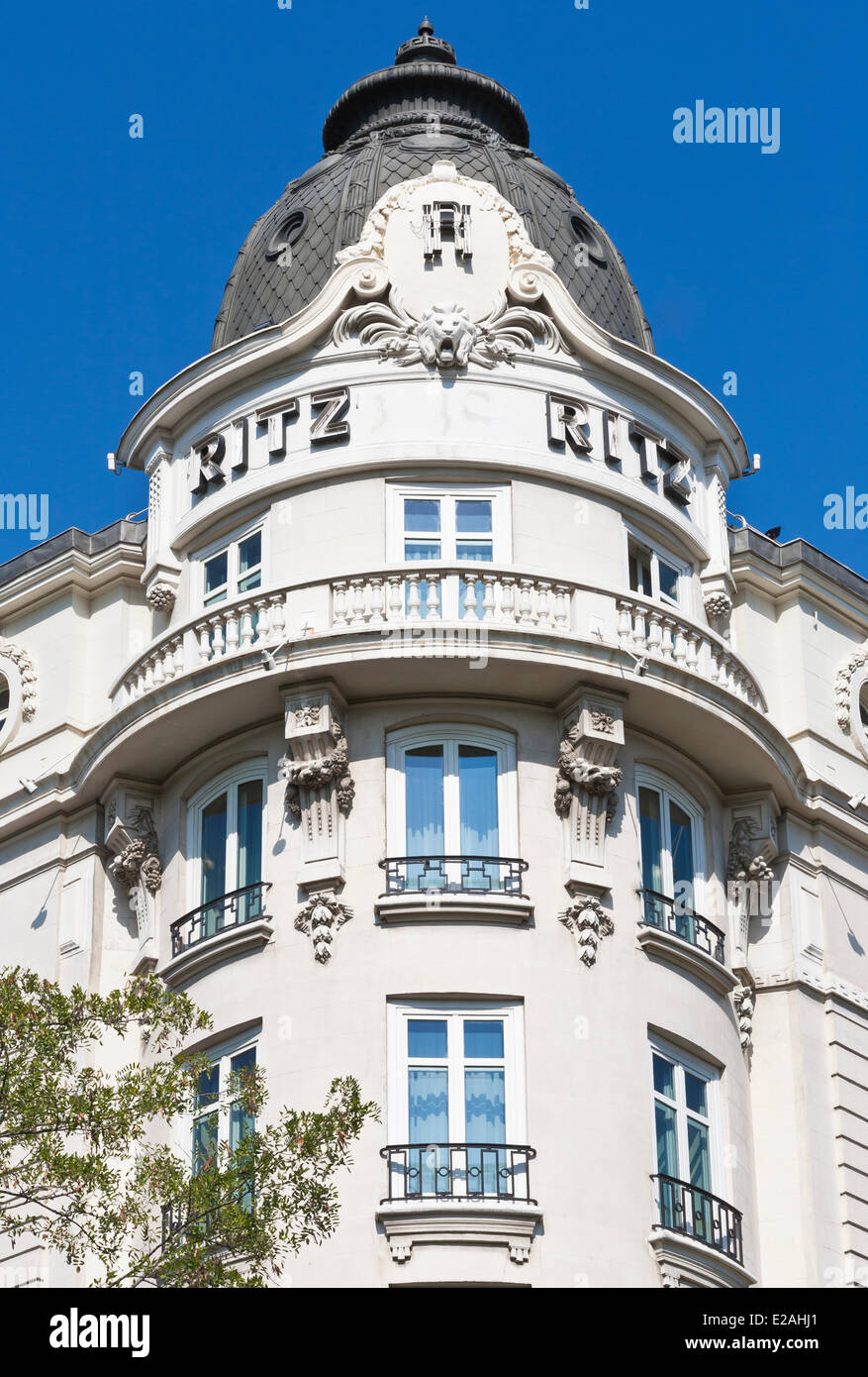 Spain, Madrid, Ritz Hotel opened by King Alfonso XIII in 1910 - Stock Image