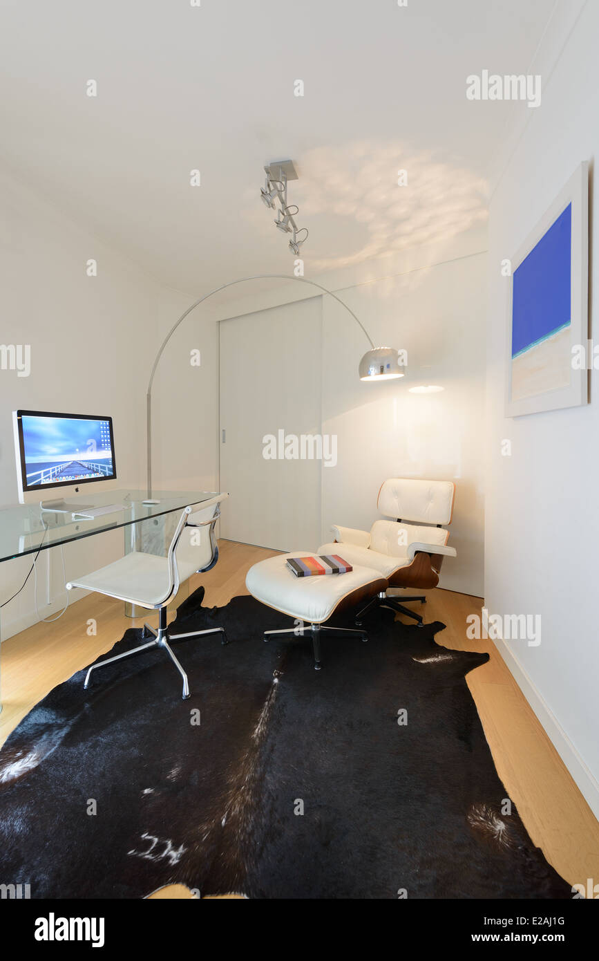 trendy office. Home Office - Stock Image Trendy