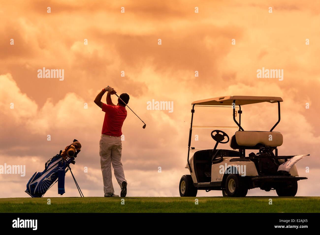Europe, France, Yvelines, Golf National at Guyancourt - Stock Image