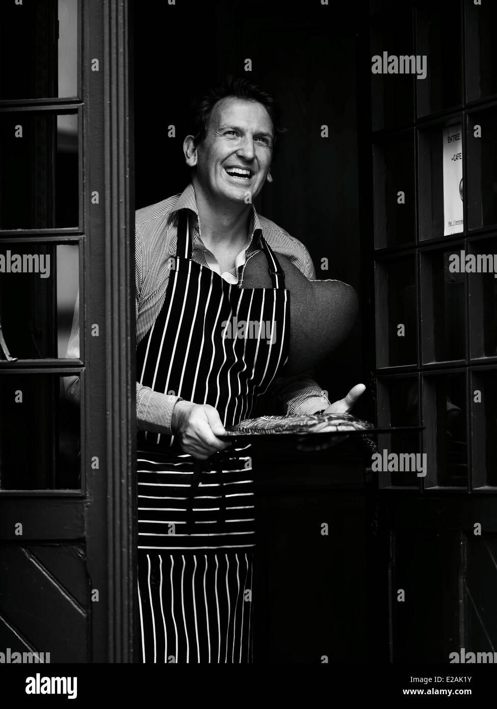 France, Alsace, feature : Felder's Alsace, Christophe Felder portrait, pastry chef Stock Photo