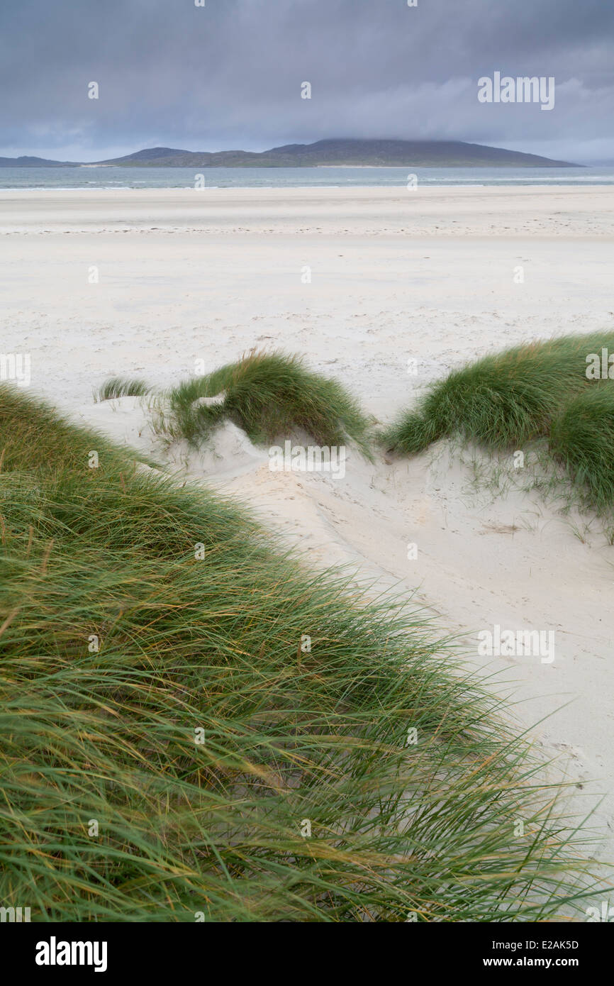 A view of Seilebost beach, Isle of Harris, Outer Hebrides, Scotland - Stock Image