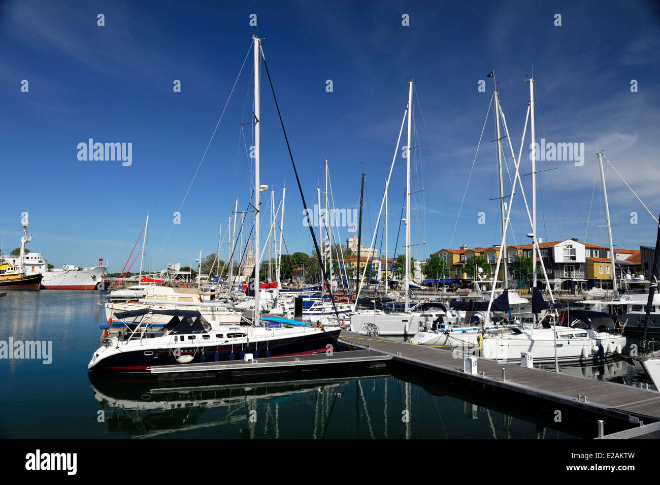 France, Charente Maritime, La Rochelle, yachting harbour - Stock Image