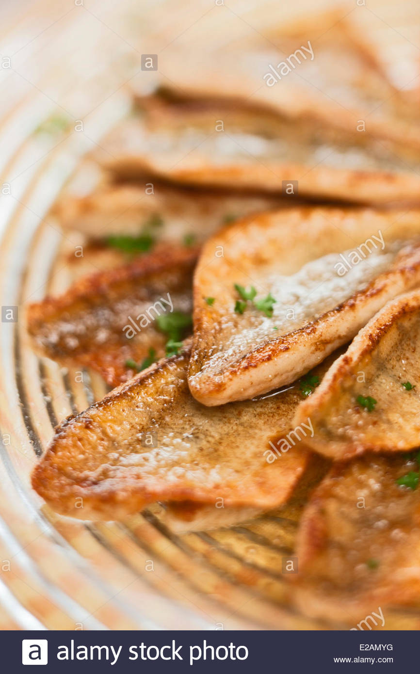 France, Haute Savoie, Anthy sur Leman, Fried Perch of Lake Geneva, Claude Dubouloz recipe Auberge d'Anthy Stock Photo