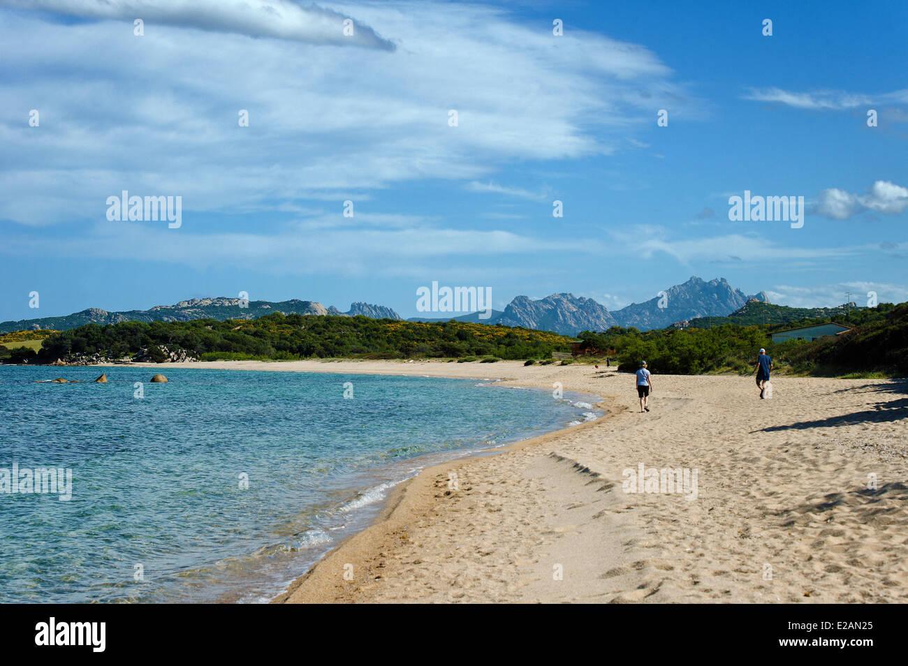 Italy, Sardinia, Olbia Tempio Province, the Emerald Coast (Costa Smeralda), Gulf of Arzachena, Tanca Manna, Mannena - Stock Image