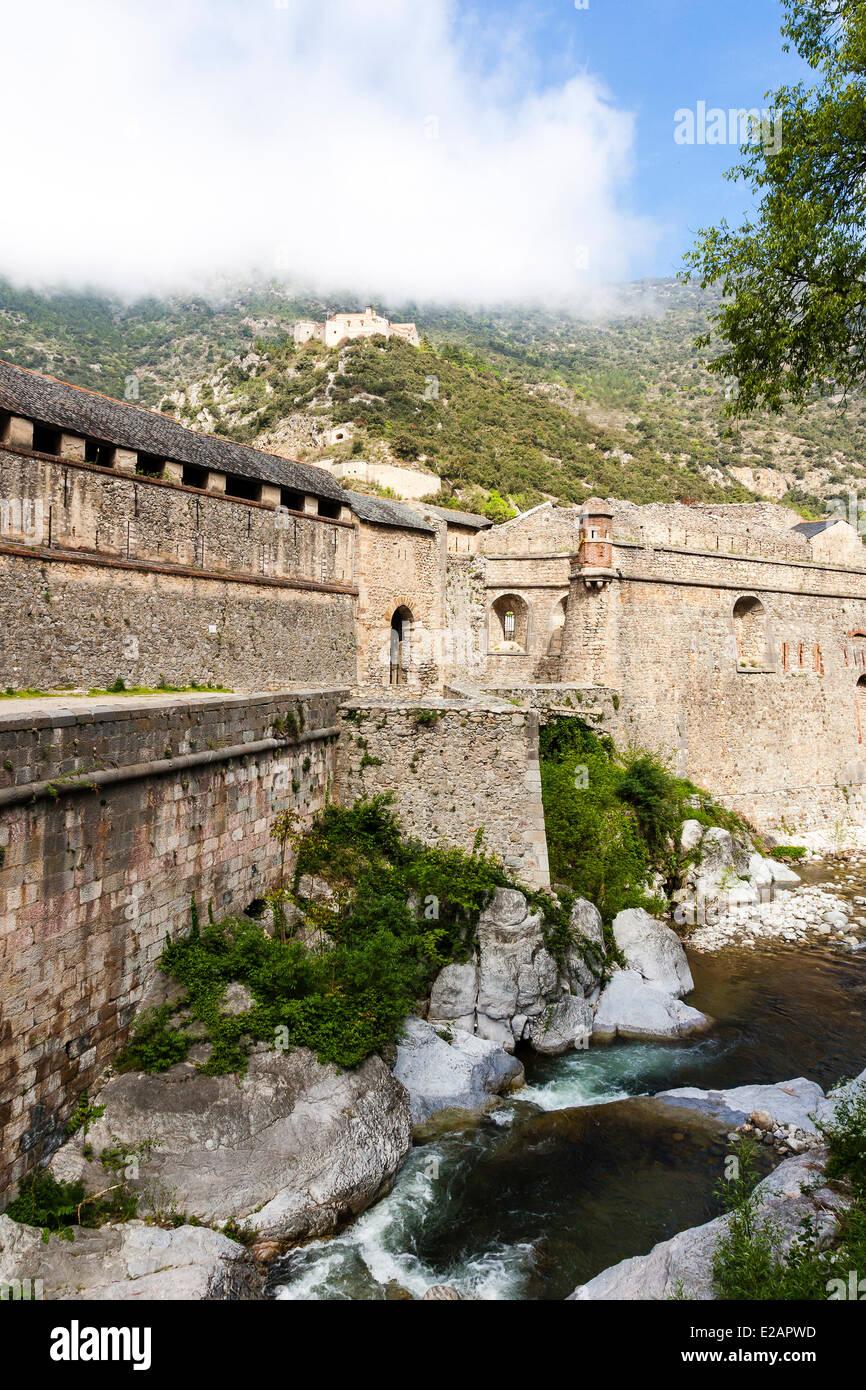 France, Pyrenees Orientales, Villefranche de Conflent, labelled Les Plus Beaux Villages de France (The Most Beautiful - Stock Image