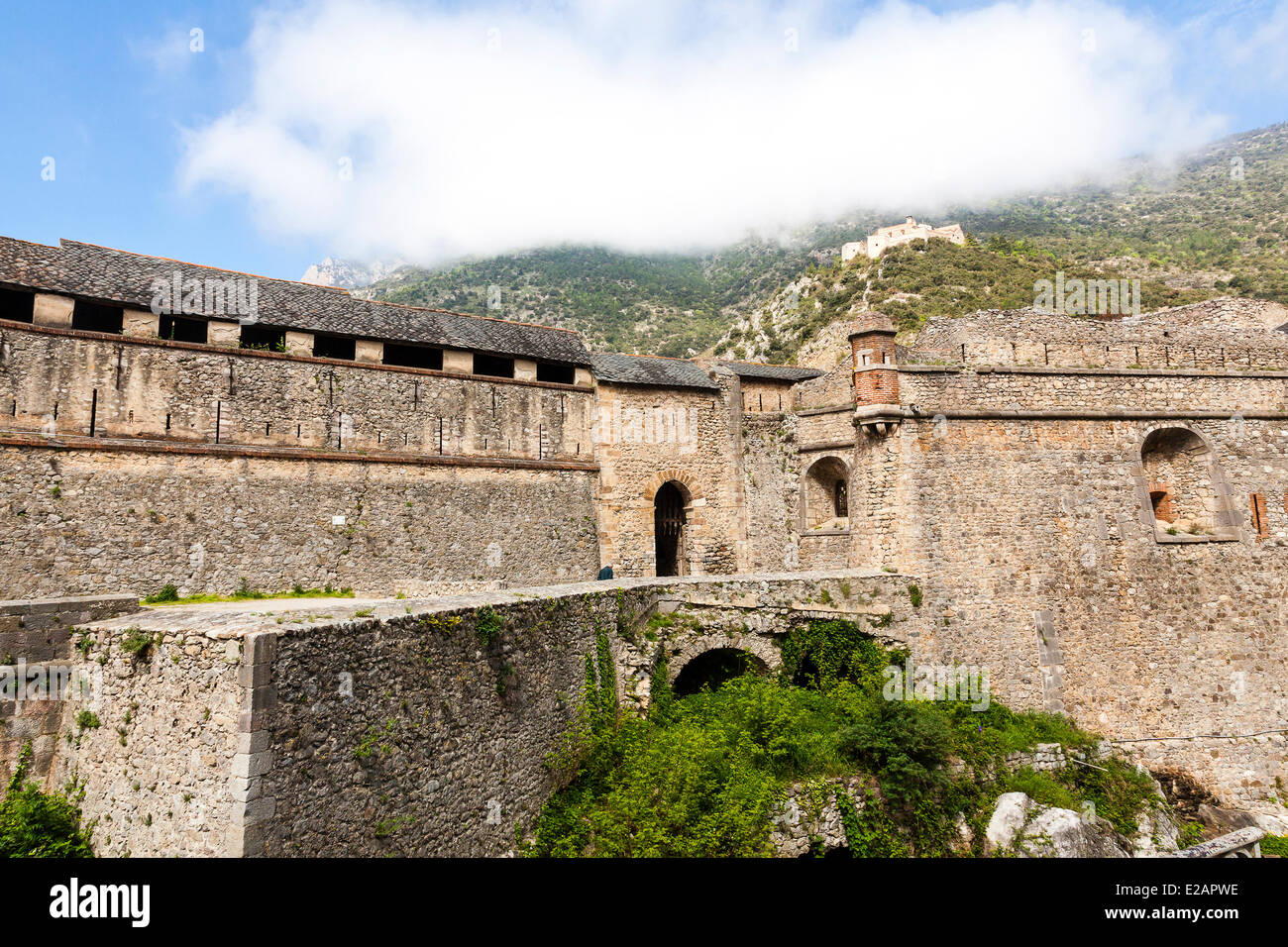 France, Pyrenees Orientales, Villefranche de Conflent, labelled Les Plus Beaux Villages de France (The Most Beautiful Stock Photo