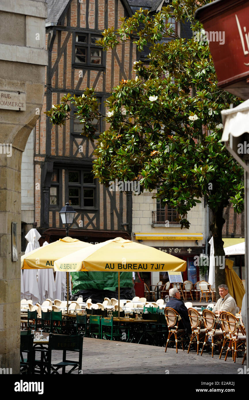 France, Indre et Loire, Tours, Commerce Street - Stock Image