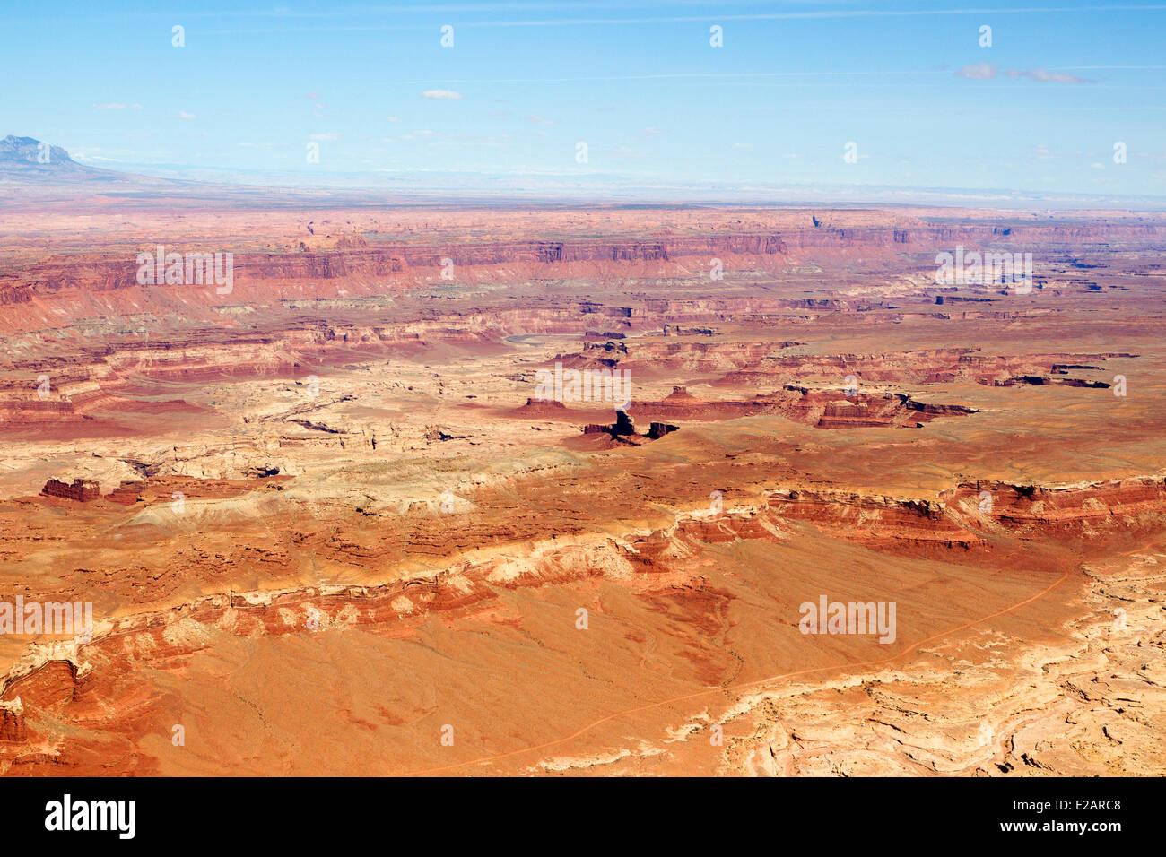 United States, Utah, Canyonland National Park (aerial view) - Stock Image