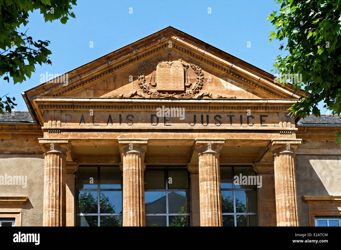 France, Lozere, Mende, courthouse - Stock Image