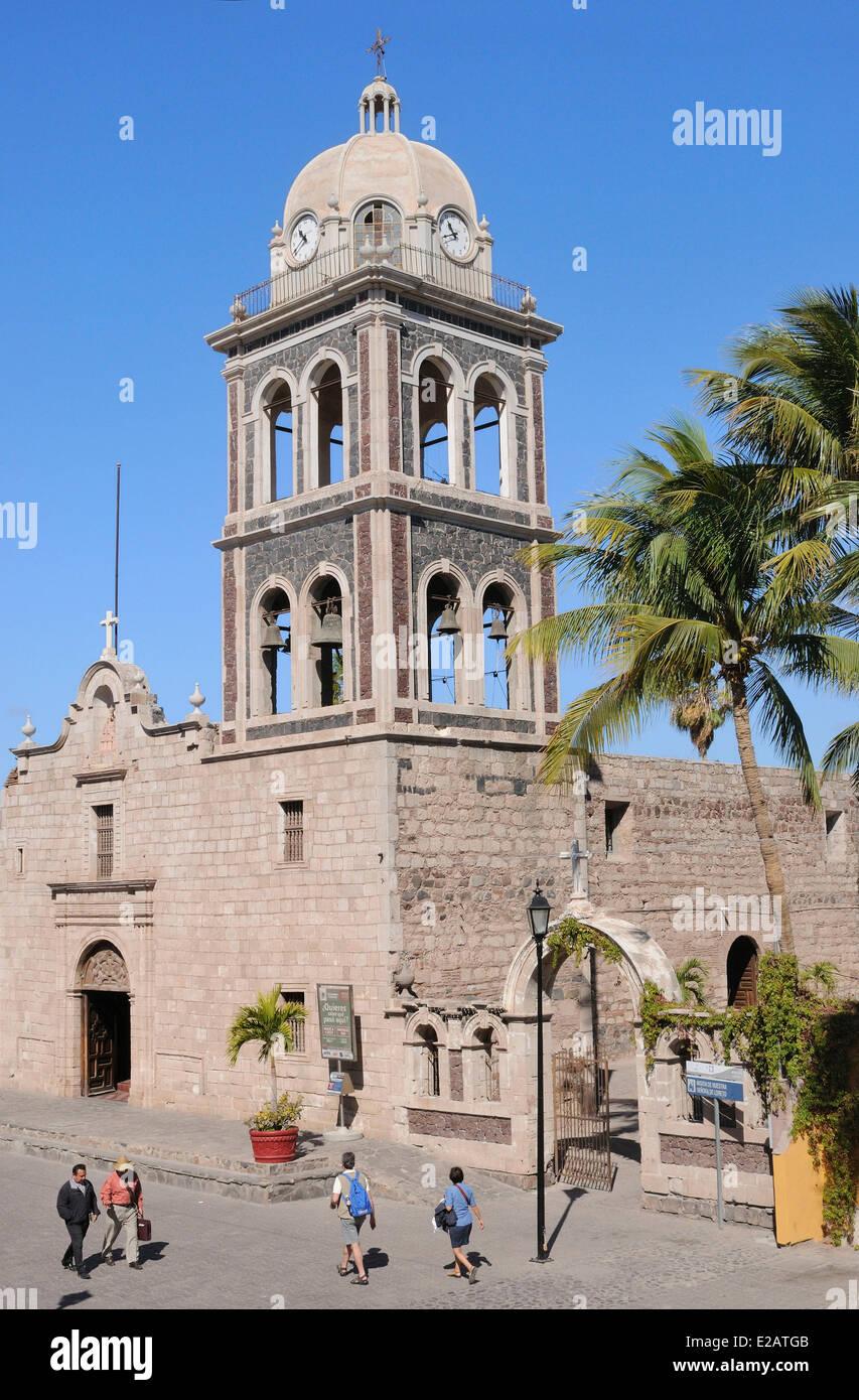 Mexico, Baja California Sur State, Loreto, Mission Nuestra Senora de Loreto of 1697 - Stock Image